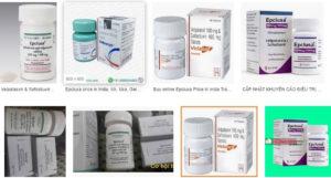 hình dạng thuốc Epclusa đặc trị bệnh viêm gan C