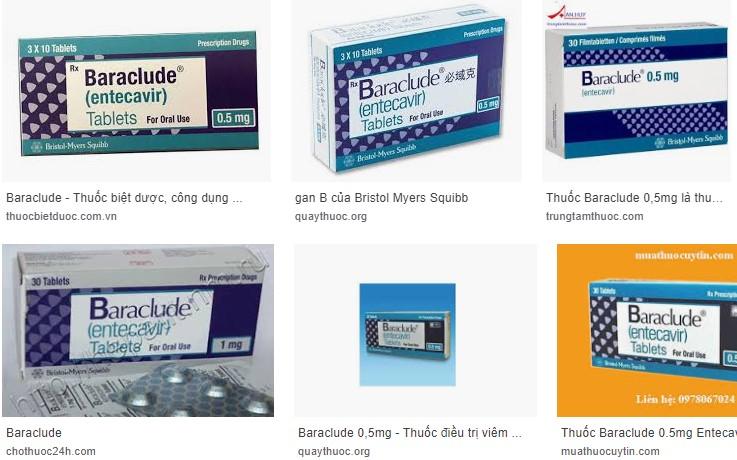 thuốc baraclude trị viêm gan b