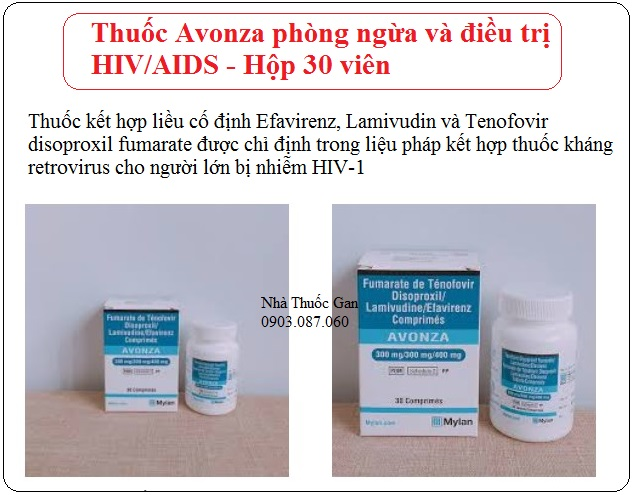 thuoc avonza phong ngua dieu tri hiv aids hop 30 vien